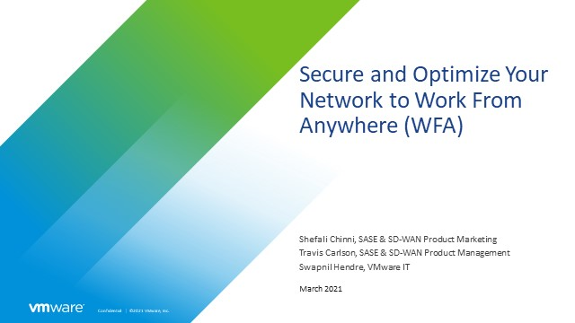 Secure and Optimize Your Network to Work From Anywhere
