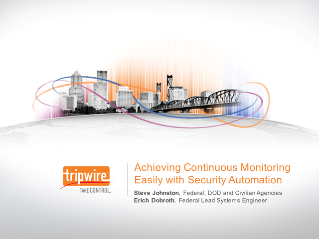 Achieving Continuous Monitoring Easily with Security Automation