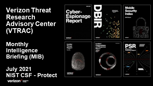Verizon Threat Research Advisory Center MIB: NIST CSF - Protect