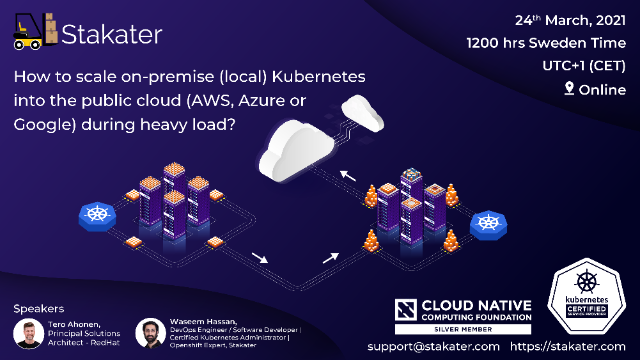Scale on-premise K8s into the public cloud (AWS/Azure/Google) during heavy load?