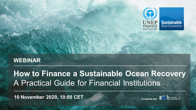 Turning the Tide: How to Finance a Sustainable Ocean Recovery - Morning webinar