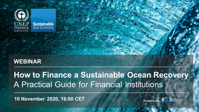 Turning the Tide: How to Finance a Sustainable Ocean Recovery -Afternoon Webinar