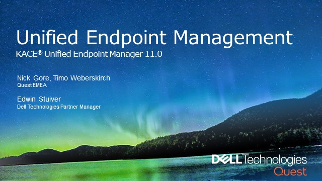 New: KACE® Unified Endpoint Manager 11.0 by Quest
