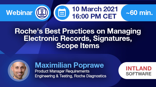 Roche's Best Practices on Managing Electronic Records, Signatures, Scope Items