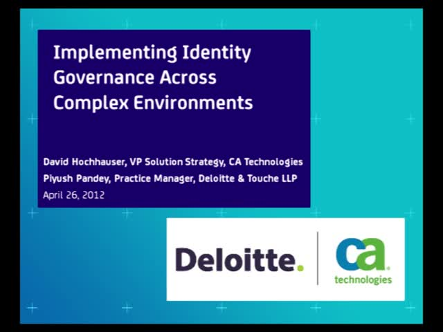 Implementing Identity Governance Across Complex Environments