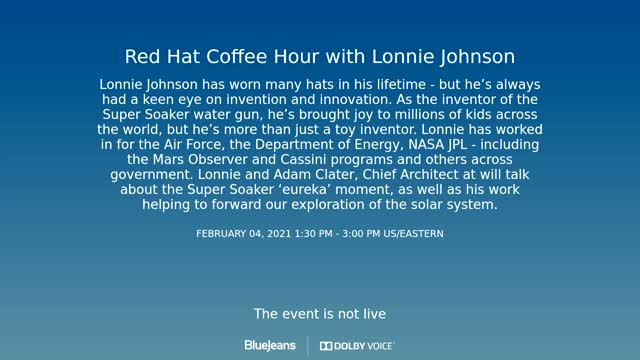 Red Hat Coffee Hour feat. Lonnie Johnson