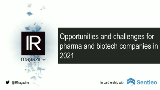 Webinar – Opportunities and challenges for pharma and biotech companies in 2021