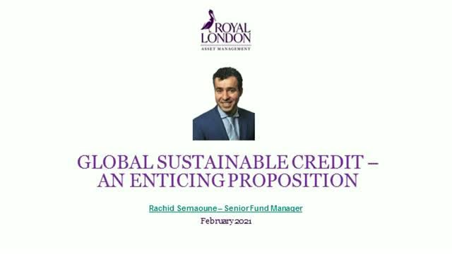 Global sustainable credit – an enticing proposition