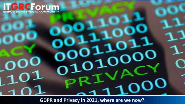 [CPE Webinar] GDPR and Privacy in 2021, where are we now?