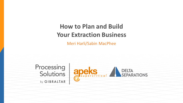 How to Plan and Build Your Extraction Business