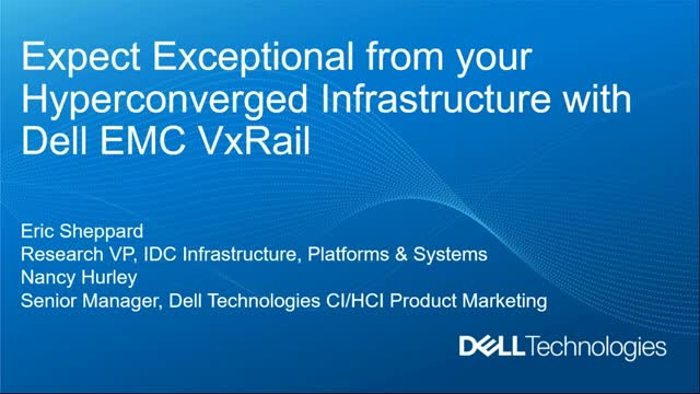 Expect Exceptional From Your Hyperconverged Infrastructure with IDC