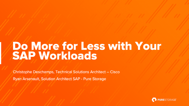 Do More for Less with Your SAP Workloads