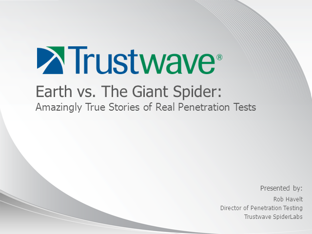 Earth vs. The Giant Spider: Amazingly True Stories of Real Penetration Tests