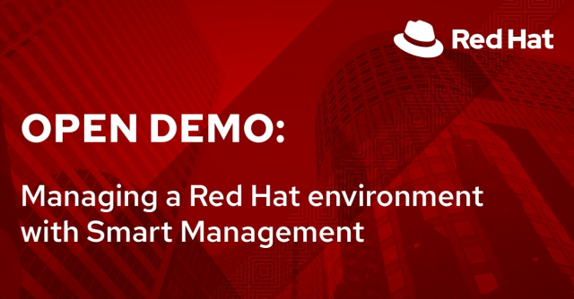 Opend Demo: Managing a Red Hat environment with Smart Management (2/9)
