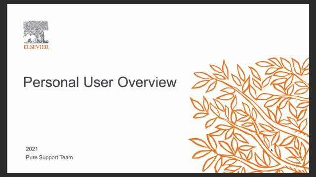 Personal User Overview