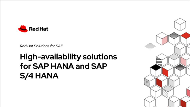 High-availability solutions for SAP HANA and SAP S/4 HANA