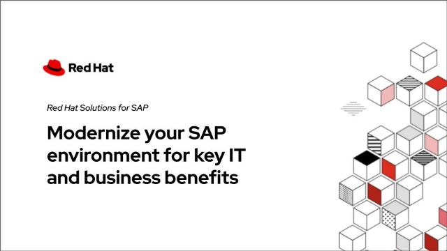 Modernize your SAP environment for key IT and business benefits