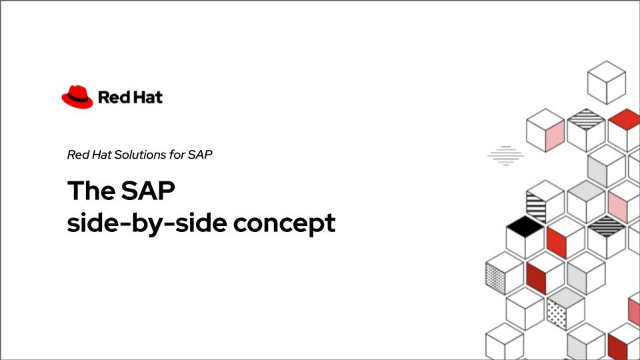 The SAP side-by-side concept powered by Red Hat