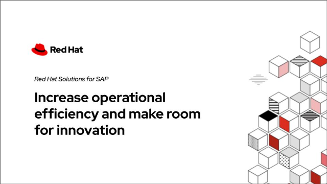 SAP infrastructure increases operational efficiency, makes room for innovation