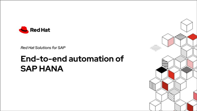 End-to-end automation of SAP HANA