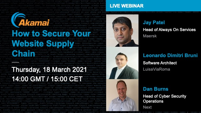 Live Webinar: How to Secure Your Website Supply Chain
