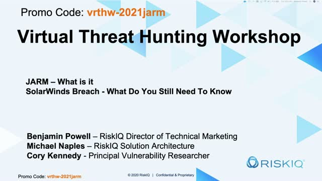 JARM, SolarWinds, and Threat Hunting