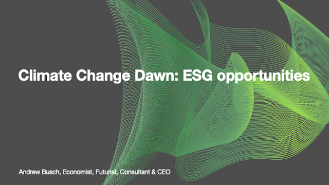 Climate Change Dawn: ESG opportunities