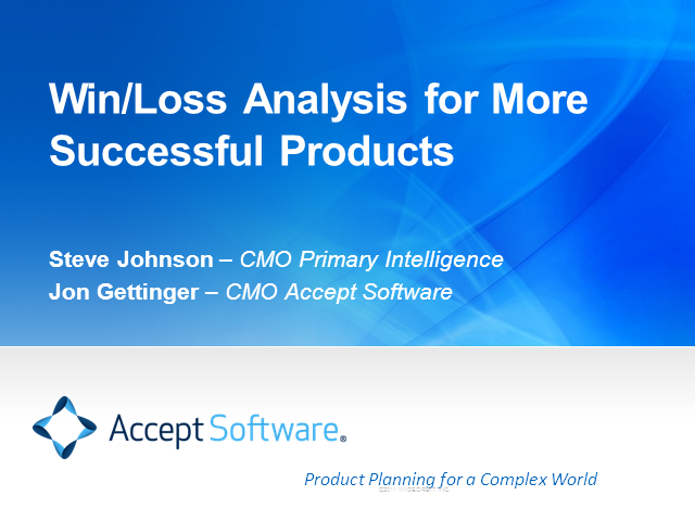 Win/Loss Analysis for More Successful Products