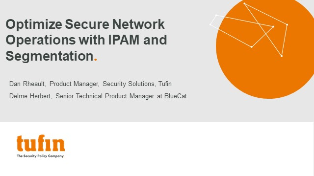 Optimize Secure Network Operations with IPAM and Segmentation
