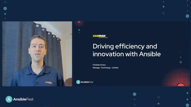 CarMax:  Driving efficiency and innovation with Ansible
