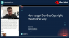 How to get DevSecOps right, the Ansible way