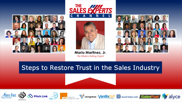 Steps to Restore Trust in the Sales Industry