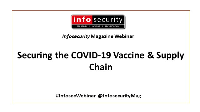 Securing the #COVID19 Vaccine & Supply Chain