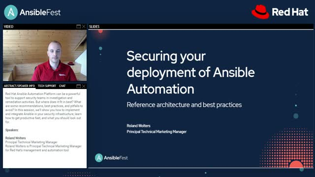 Securing your deployment of Ansible automation