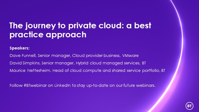 The journey to private cloud: a best practice approach