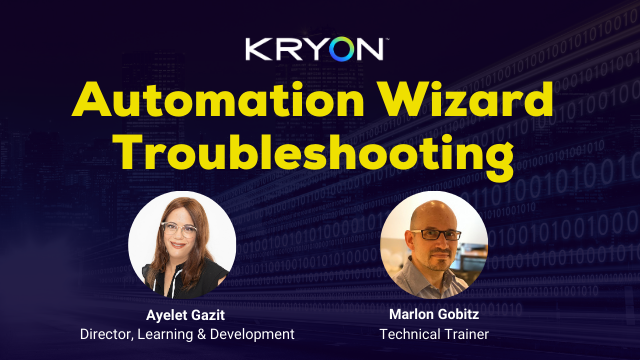 Automation Wizard Troubleshooting