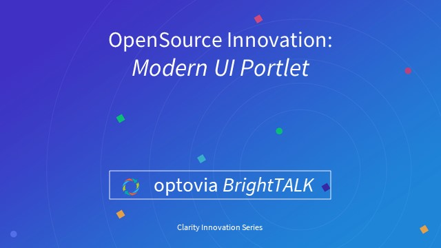 Clarity Innovation: Modern UI Portlet