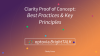 Clarity Best Practices: Proof of Concept