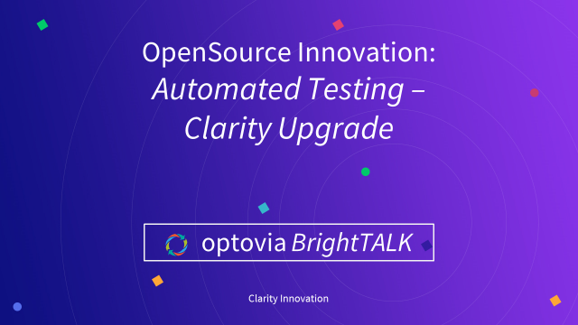 Clarity Innovation: Automated Testing - Clarity Upgrades