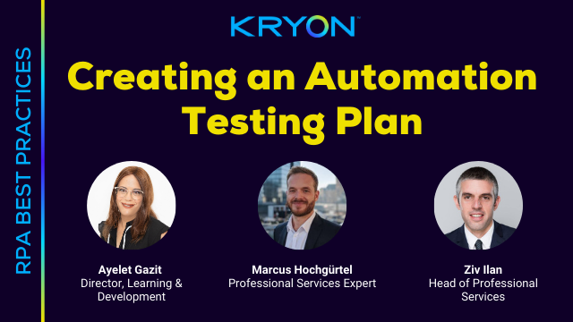 RPA Best Practices- Creating an Automation Testing Plan