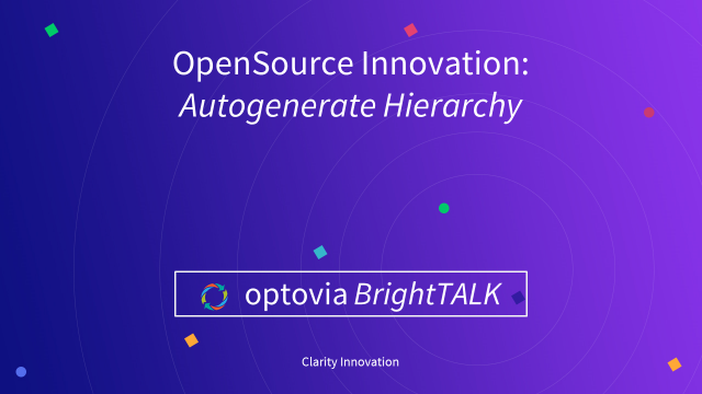 Clarity Innovation: Autogenerate Hierarchy