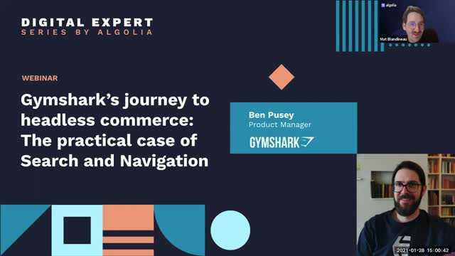 Gymshark's Journey to Headless Commerce Starting with Search