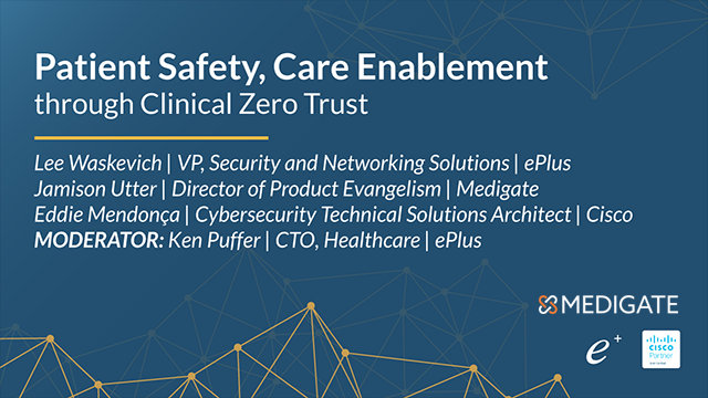 Patient Safety, Care Enablement through Clinical Zero Trust
