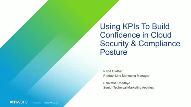 Using KPIs to Build Confidence in Cloud Security & Compliance Posture