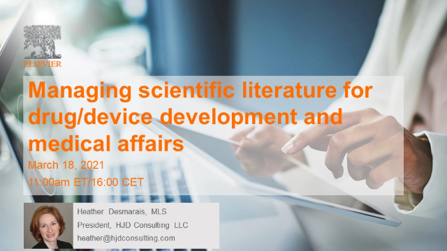Managing scientific literature for drug/device development and medical affairs