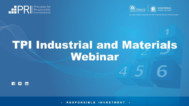 TPI Industrial and Materials Webinar