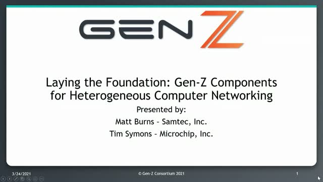 Laying the Foundation: Gen-Z Components for Heterogeneous Computing Networks