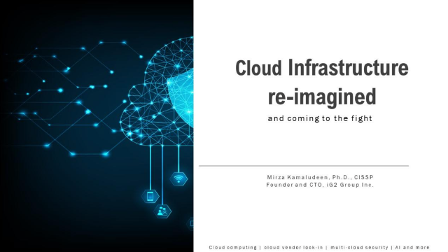 Cloud Infrastructure re-imagined and coming to the fight