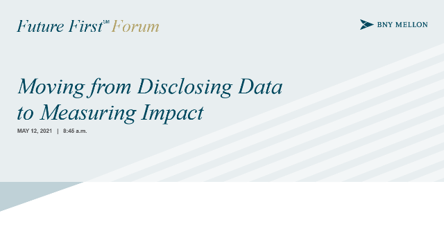 Moving from Disclosing Data to Measuring Impact