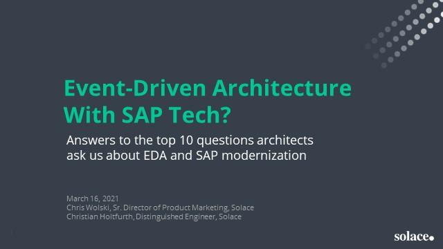 Event-Driven Architecture with SAP Tech?